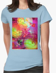 Colorful Camera Art Womens Fitted T-Shirt