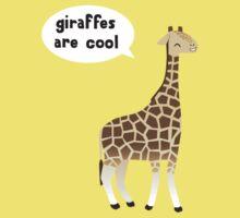Giraffes are cool Kids Tee