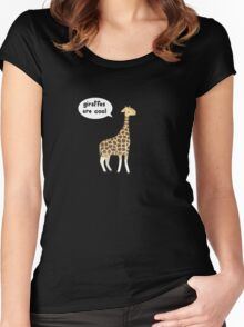 Giraffes are cool Women's Fitted Scoop T-Shirt