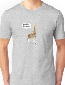 Giraffes are cool Unisex T-Shirt