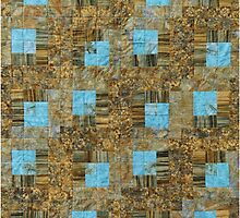 Log Cabin With Turquoise by Jean Gregory  Evans
