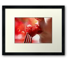 Food of Love Framed Print