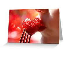 Food of Love Greeting Card
