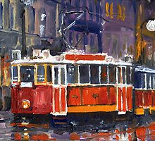 Prague Old Tram 09 by Yuriy Shevchuk