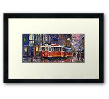 Prague Old Tram 09 Framed Print