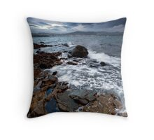 Storm clouds at dawn Throw Pillow