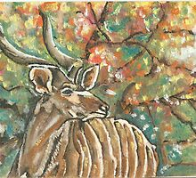 Buck in the african bush by Marie-louise Bulgin