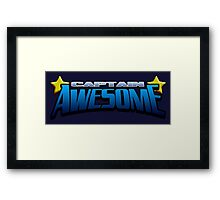 Captain Awesome Framed Print
