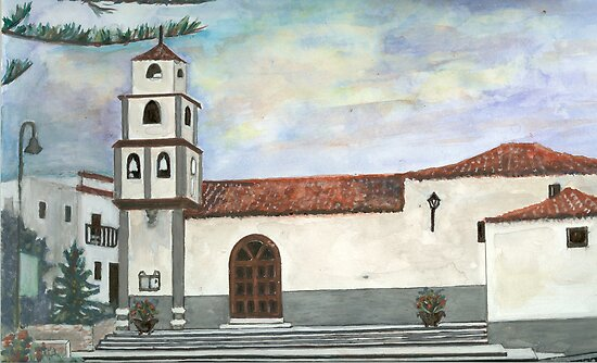 Church view by Marie-louise Bulgin