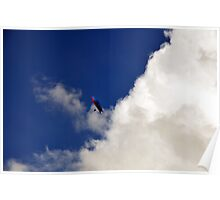 Skyscape with paraglider Poster