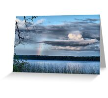 rainbow view Greeting Card