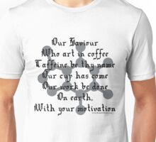Prayer to Caffeine - Molecule (light tshirts) Unisex T-Shirt