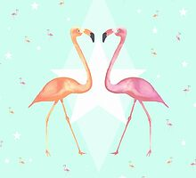 FLAMINGO PARTY by Monika Strigel