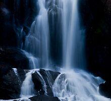 Flowing Falls. by Steve Chapple
