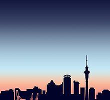 Auckland Skyline by unicornucopiae