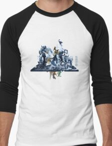 The Game of Kings, Wave Three: The White Queen-Knight's Pawn Men's Baseball ¾ T-Shirt