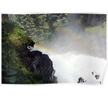 Two rainbow's one waterfal in Austria Krimml  Poster