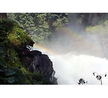 Two rainbow's one waterfal in Austria Krimml  Photographic Print