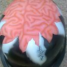 Airbrushed Cracks N' Brains helmet by WickedDesigns