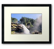 Krimml waterfall Austria Framed Print