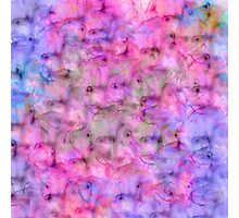 Colorful Pink Purple Mixed Watercolor Pattern Photographic Print
