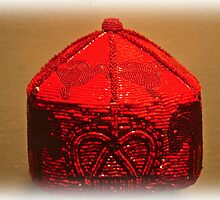 Ancient Red Glass Bead Hat by mrthink