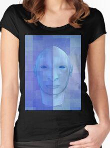 man in 3d Women's Fitted Scoop T-Shirt