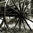 Old Wagon Wheel  2    by Carla Jensen