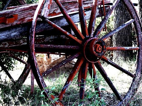 Old Wagon Wheel   by Carla Jensen