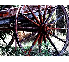 Old Wagon Wheel   Photographic Print