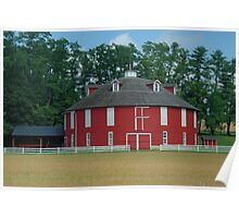 Round Barn close-up Poster