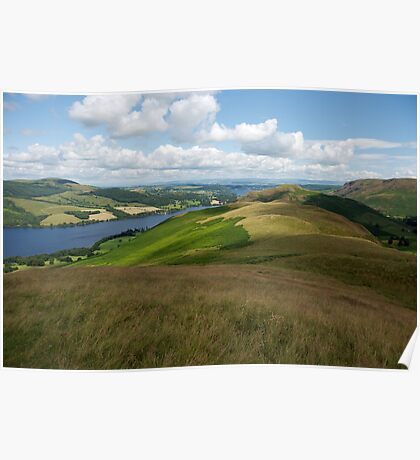 View over Ullswater in The Lake District Poster