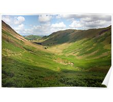 Green U-Shaped Glacial Valley Poster