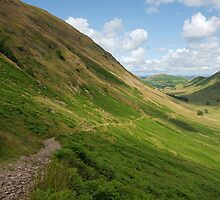 View along a glacial u-shaped valley by Duncan Payne
