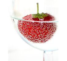 Strawberry fizz Photographic Print