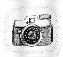 Vintage Traveler Camera Poster