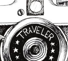Vintage Traveler Camera Sticker