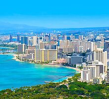 Honolulu city, Oahu, Hawaii by Digital Editor .