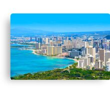 Honolulu city, Oahu, Hawaii Canvas Print