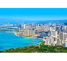 Honolulu city, Oahu, Hawaii Photographic Print