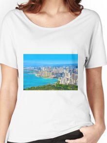 Honolulu city, Oahu, Hawaii Women's Relaxed Fit T-Shirt