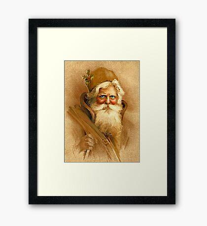Old World Santa Framed Print