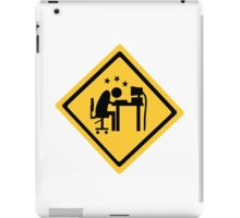 Overworked man head butts a computer. iPad Case/Skin