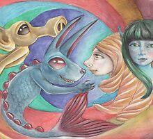 Kelpie by snailmakesart