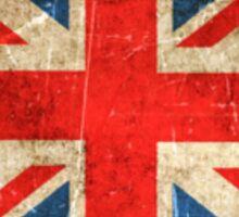 Vintage Aged and Scratched British Flag Sticker