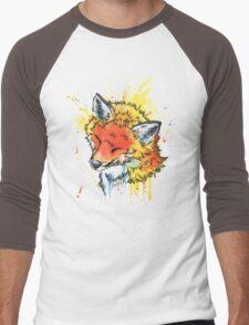 Fox Watercolor Men's Baseball ¾ T-Shirt