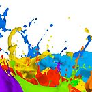 Colourful paint splashes by Bruno Beach