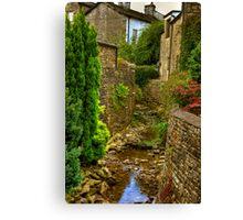 Village Stream - Dent. Canvas Print