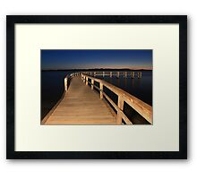 Lake Clifton Boardwalk At Dusk  Framed Print