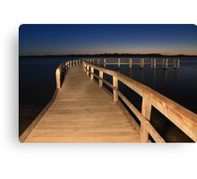 Lake Clifton Boardwalk At Dusk  Canvas Print